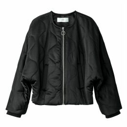 Padded Coat with Batwing Sleeves