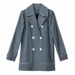 Denim Pea Coat