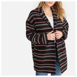 Striped Patterned Boyfriend Coat