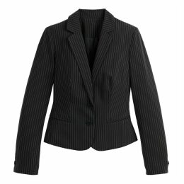 Fitted Tennis Stripe Single-Breasted Blazer