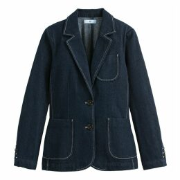 Denim Single-Breasted Blazer