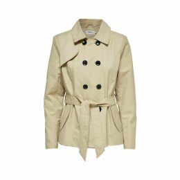 Mid-Season Mid-Length Buttoned Trench Coat