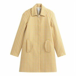 Jacquard Print Coat with Pockets