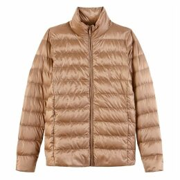 Light Puffer Jacket with Real Feather Padding