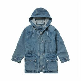Emi Denim Hooded Parka