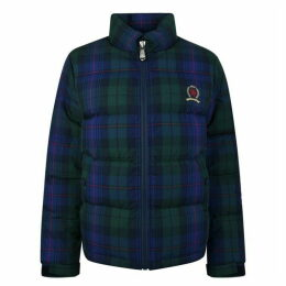 Tommy Jeans Plaid Crest Puffa Jacket