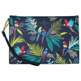 Sara Miller Parrots Cosmetic Pouch