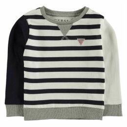 Guess Stripe Logo Sweater