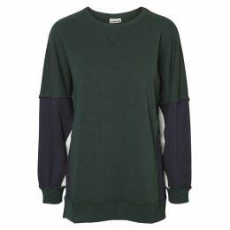 Noisy May Pom Block Panel Sweatshirt