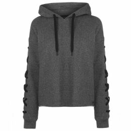 DKNY Lace Up Boxy Hoodie Ladies