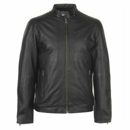 Selected Homme Selected Racer Leather Jacket Mens