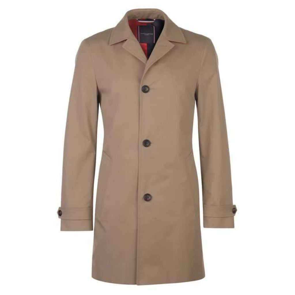 Tommy Hilfiger Tailoring Tommy Pure Cotton Point Collar Trench Coat