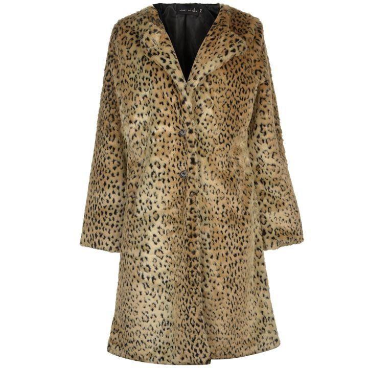 Story of Lola Long Leopard Coat