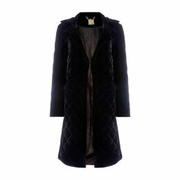 Biba Quilted Velvet Coat