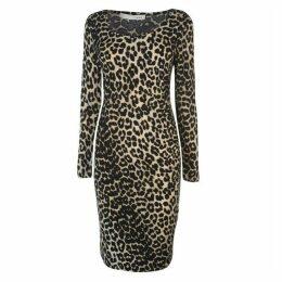 Oui Oui Leopard Dress Womens