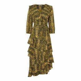 Biba Python Frill Dress