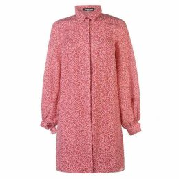 Fashion Union Fashion Kiana Pattern Shirt Dress Ladies