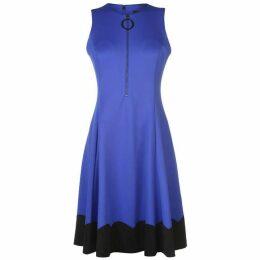 DKNY Sleeveless Front Zip Dress Womens