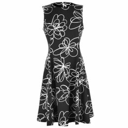 DKNY Floral Fit Flare Dress