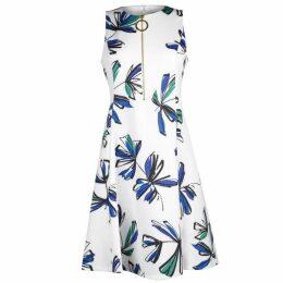 DKNY half Zip Fit Flare Dress