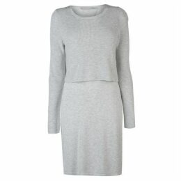 Oui Double Layer Knitted Dress Ladies