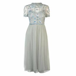 Frock and Frill Frock Short Sleeve Embellished Dress Womens