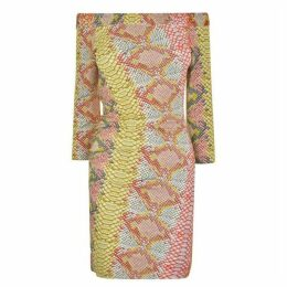 JUST CAVALLI Irid Python Print Dress