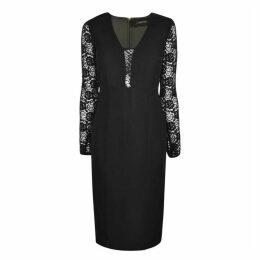 PATRIZIA PEPE Lace Fitted Dress