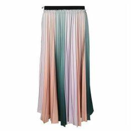 Ted Baker Pleated Stripe Midi Skirt
