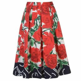 Gant Pleated Rose Skirt Womens