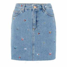 Tommy Jeans TJW Denim Skirt Embr Ld92