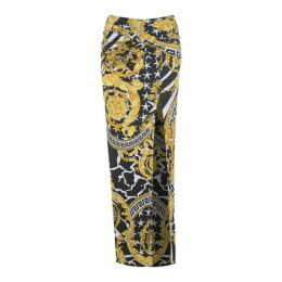 Versace Barocco Slit Safety Pin Skirt