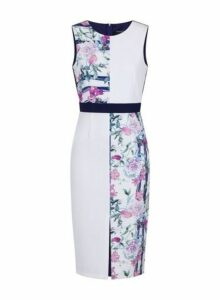 Womens **Paper Dolls Multi Coloured Printed Colour Block Dress- Multi Colour, Multi Colour
