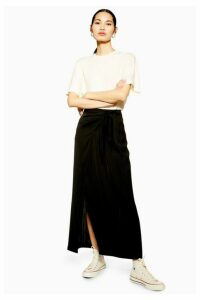 Womens **Black Wrap Skirt By Boutique - Black, Black