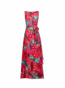 Womens **Billie & Blossom Tall Pink Tropical Maxi Dress- Pink, Pink