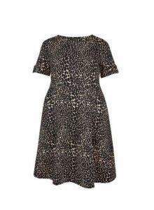 Womens **Dp Curve Giraffe Print T-Shirt Dress- Black, Black