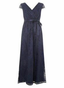 Womens **Showcase Petite Navy 'Isla' Maxi Dress- Blue, Blue