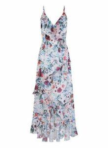 Womens **Little Mistress Multi Colour Camisole Floral Print Maxi Dress- Multi Colour, Multi Colour