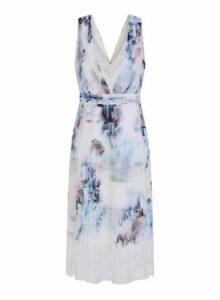 Womens **Little Mistress Multi Colour Floral Print Midi Dress- Multi Colour, Multi Colour