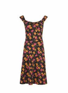 Womens **Tall Pink Ditsy Print Skater Dress- Pink, Pink