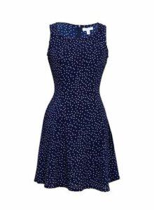 Womens *Blue Vanilla Multi Colour Sleeveless Swing Dress- Multi Colour, Multi Colour