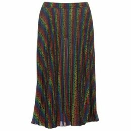 MICHAEL Michael Kors  MULTI LOGO PLEAT SKRT  women's Skirt in Multicolour