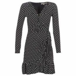 MICHAEL Michael Kors  ELV DOT SHRD LS DRS  women's Dress in Black
