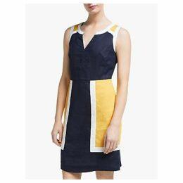 Boden Anita Linen Dress, Navy