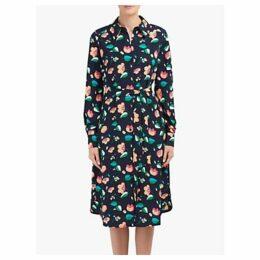 Essentiel Antwerp Tong Floral Print Shirt Dress, Denim