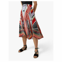 Karen Millen Abstract Print Skirt, Multi