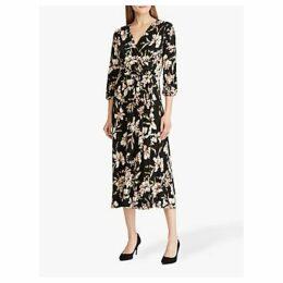 Lauren Ralph Lauren Vashendria Floral Print Day Dress, Black/Pink