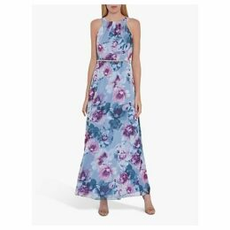 Gina Bacconi Kinia Beaded Waist Maxi Dress, Multi