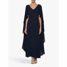Gina Bacconi Bellerose Maxi Dress, Navy