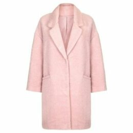 Spice  - Womens Faux Mohair Oversized Winter Coat  women's Coat in Pink
